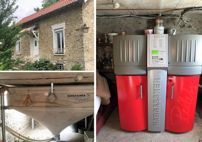 Chaudière granulés de bois pellets Hargassner à Les Molières 91 Essonne