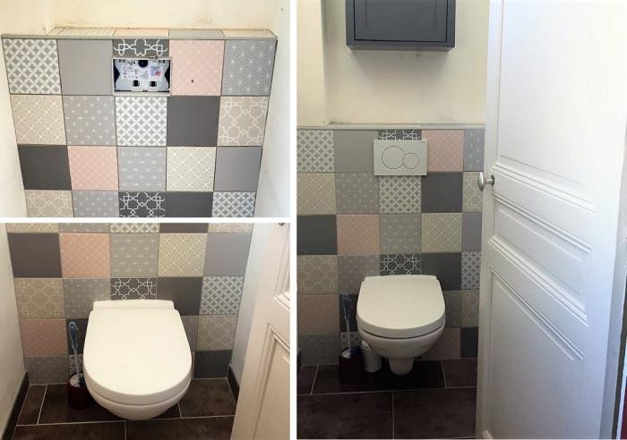 Pose d'un toilette suspendue à Livry Gargan 93 Seine St Denis