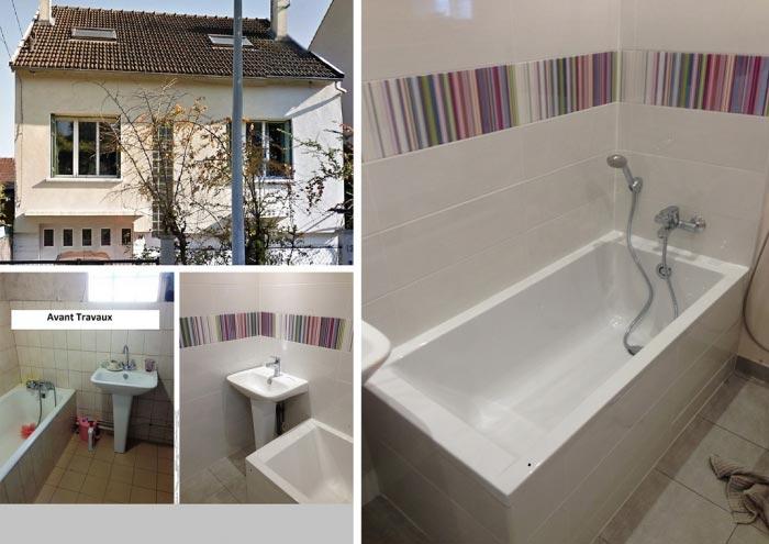 Rénovation d'une salle de bain à St Geneviève des Bois 91 Essonne