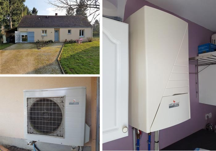 Attractive Installation Pompe à Chaleur Daikin Avec Production Du0027eau Chaude Sanitaire  Maison Neuve à Tigy Dans Le Loiret.