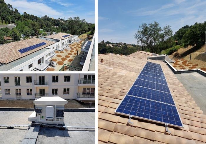 Installation photovoltaïque en autoconsommation à Saint Paul de Vence (06) Région PACA