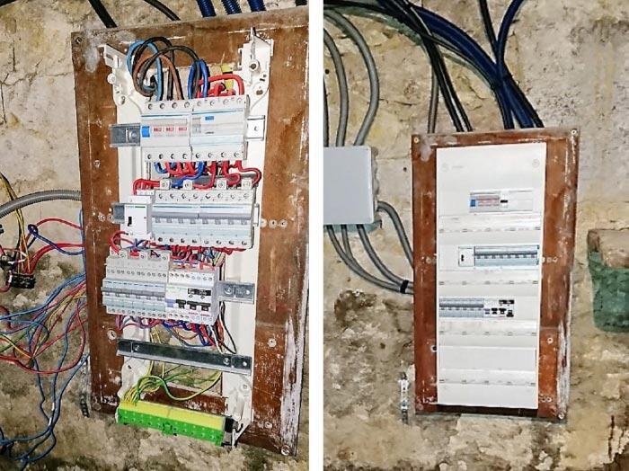 Sécurisation d'une installation électrique dangereuse