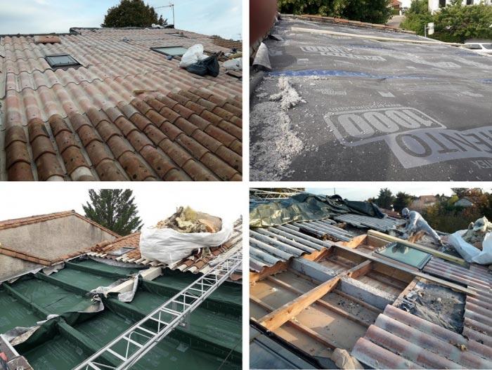 Isolation de toiture par l'exterieur en ouate de cellulose