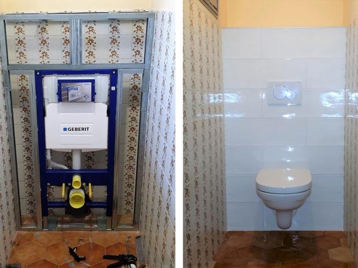 ets davy installation wc suspendu avec bati geberit autoportant pleurtuit 35. Black Bedroom Furniture Sets. Home Design Ideas