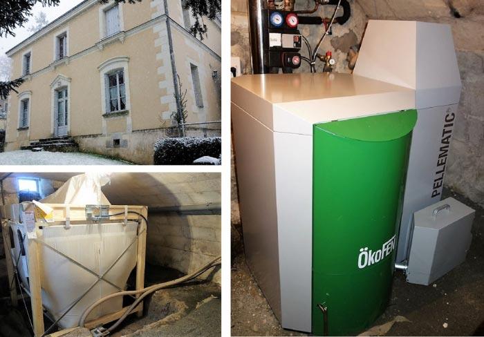 Chaudière à granulés de bois pellets Okofen PES 15 Villainnes Les Rochers   Indre et Loire-Indre et Loire (37)