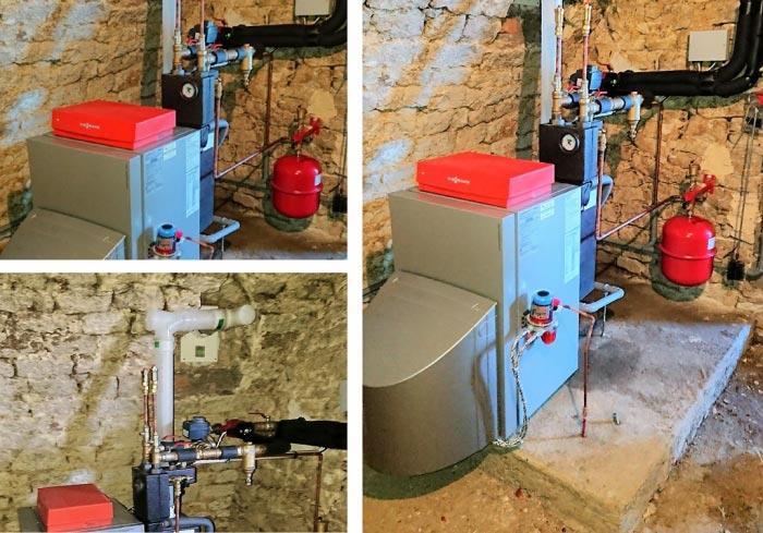 Installation d'une chaudière condensation fuel chauffage seul, Vitorondens 200-T, installateur RGE pro-actif Viessmann