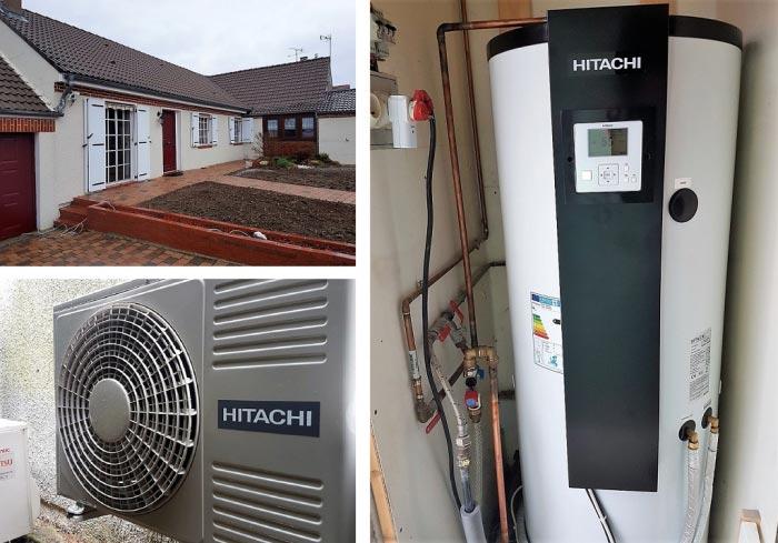 Installation d'un chauffe eau thermodynamique Hitachi Yutampo 2 à Vitry aux Loges Loiret