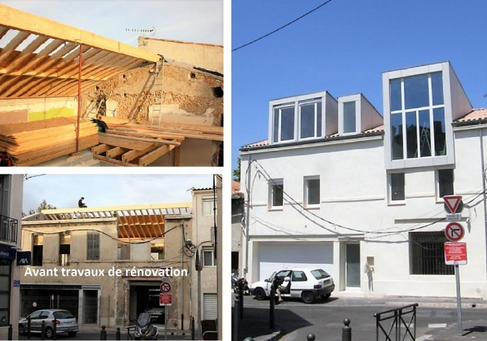 avenir bois construction sur l vation d 39 une toiture avec cr ation d 39 une lucarne marseille 13. Black Bedroom Furniture Sets. Home Design Ideas