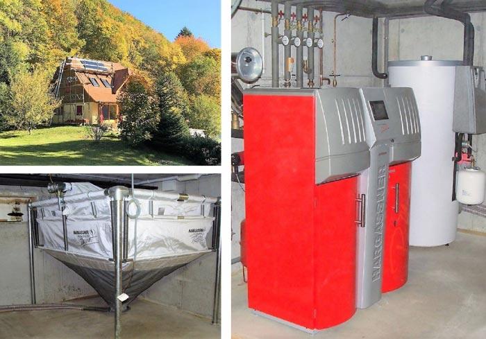 Chaudière granulés HARGASSNER et chauffe-eau solaire, Haut Rhin