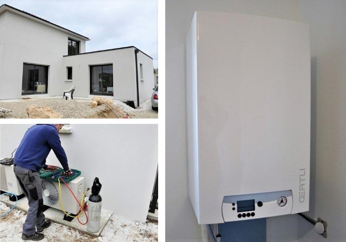 Mise en service pompe à chaleur Air-Eau Oertli Finistère