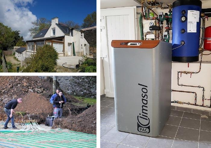 Pompe à chaleur géothermie Climasol Finistère