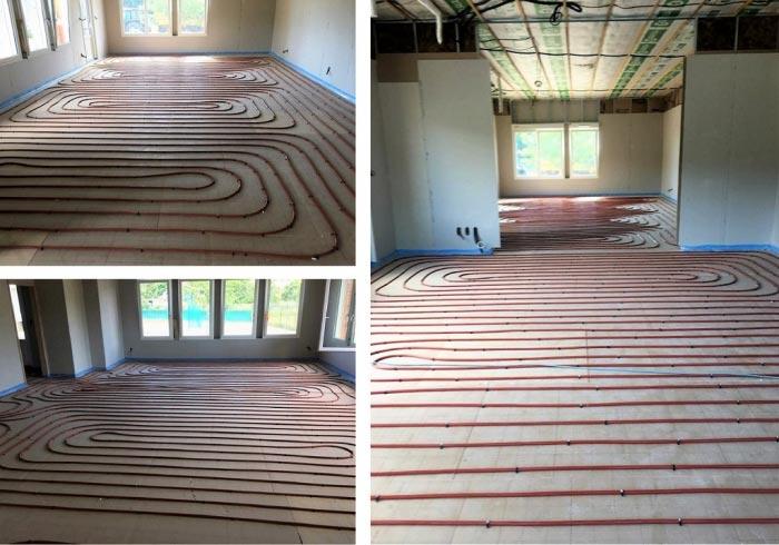 Réalisation d'un plancher chauffant dans une école à Floremont VOSGES