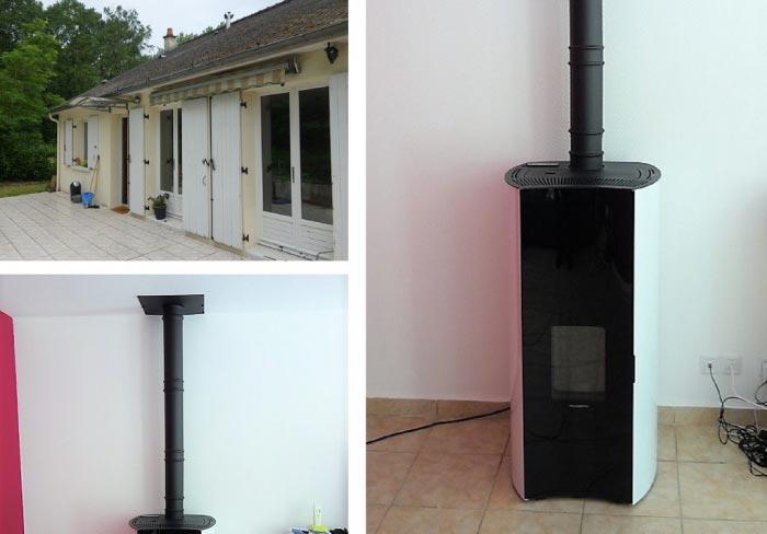 Poêle à granulés de bois Palazzetti  comme chauffage principal  37 Indre et loire