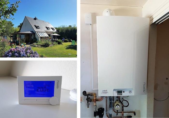 Chaudière gaz condensation Oertli Finistère
