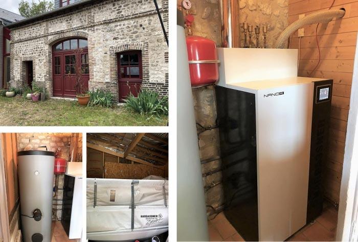 Chaudière granulés de bois pellets Hargassner à Le Petit Quevilly  76 Seine Maritime