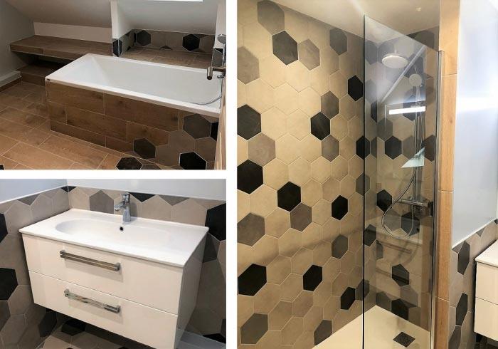 Réalisation d'une salle de bain à Bonnelles 78 Yvelines