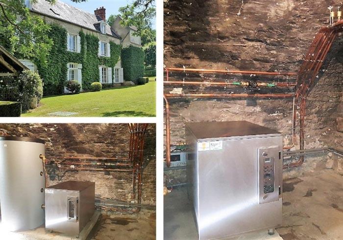 Installation d'une pompe à chaleur Géothermie avec forage de marque LEMASSON à Boigneville à proximité de Milly la forêt 91