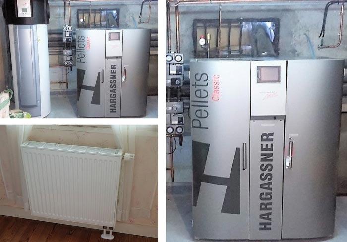 Création d'un réseau de chauffage avec chaudière à granulés de bois HARGASSNER Classic 22 KW, VILLERS SUR TRIE 60590, OISE, 60.