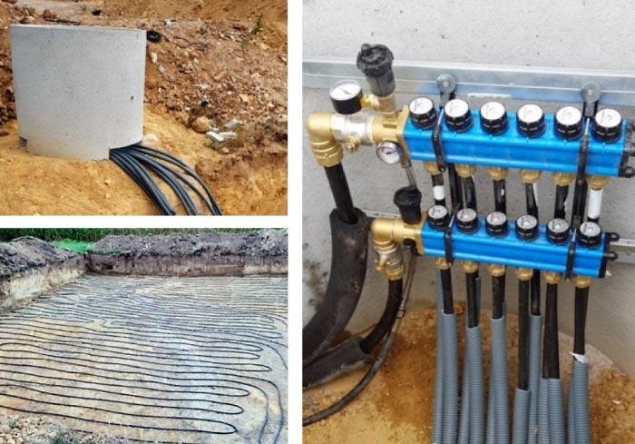Captage géothermie horizontal dans le Lot ( 46 )