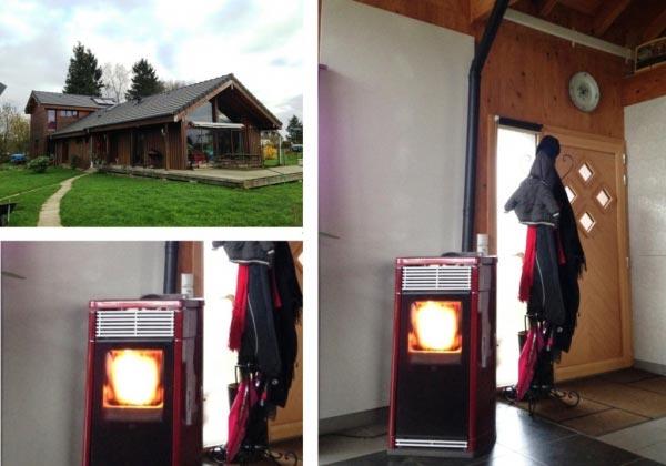 Thermopoêle à granulés EDILKAMIN Idroflexa + solaire thermique. Yerville, 76 Haute normandie