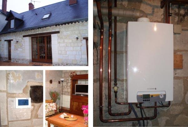 Installation chaudière gaz à condensation De DIETRICH