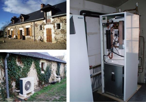 Chauffagiste - installation pompe à chaleur Daikin avec production ECS