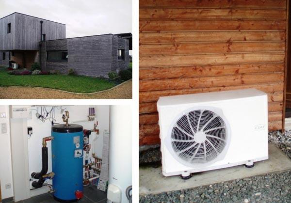 Installation pompe à chaleur Aérothermie CIAT et VMC double flux Aldes