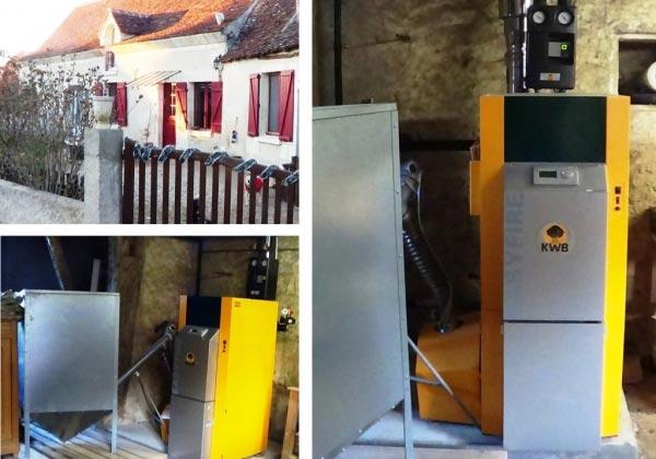 chaudière à granulés KWB / Reugny / 37 Indre et Loire