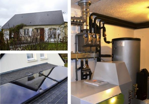 Chauffe eau solaire à Rouziers de Touraine - 37 Indre et Loire