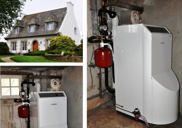 Chaudière condensation Fioul Bosch Thermic à Morlaix 29 Finistère