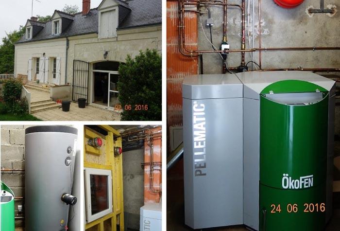 Chaudière à granulés de bois (pellets) de marque Okofen comme chauffage principal à Luynes - 37 Indre et Loire-Indre et Loire (37)
