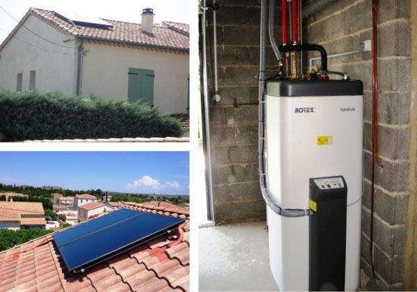 Solariste RGE qualisol - installation chauffe-eau solaire autovidangeable Daikin Rotex à Roquemaure - 30 Gard - 84 Vaucluse-Gard (30)