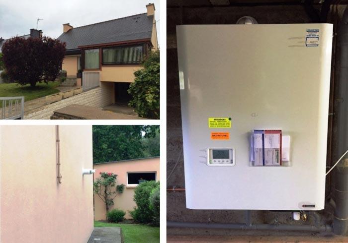 Installation chaudière Gaz à condensation à HENNEBONT 56 Morbihan