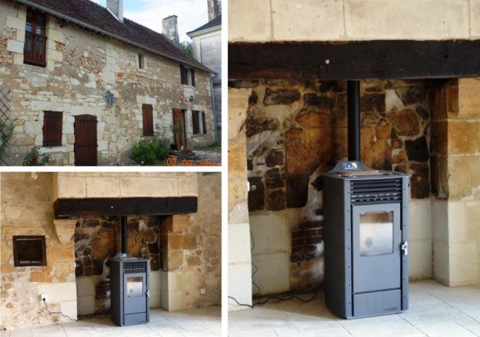 Poêle à granulés de bois (Pellets) à Air à Saint Epain - 37 Indre et Loire-Indre et Loire (37)