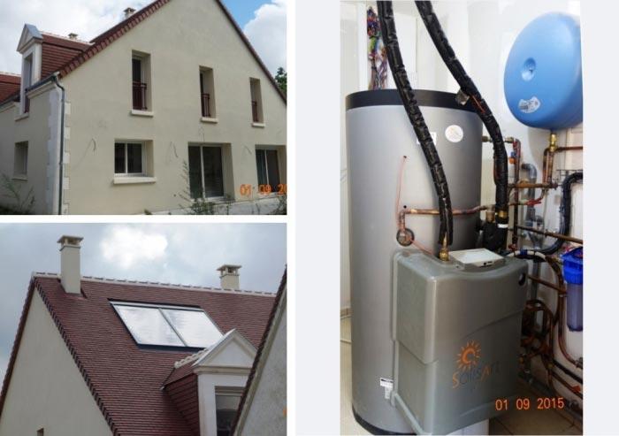 Système solaire combiné Solisart à Joué Les Tours - 37 Indre et Loire-Indre et Loire (37)