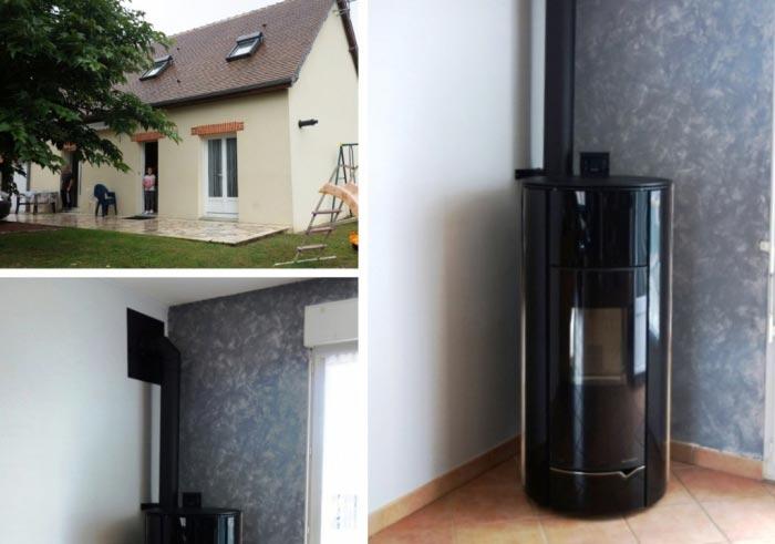 Poêle granulé de bois ( Pellets) à Palazzetti à Saint Sulpice de Pommeray - 37 Indre et Loire-Loir et Cher (41)