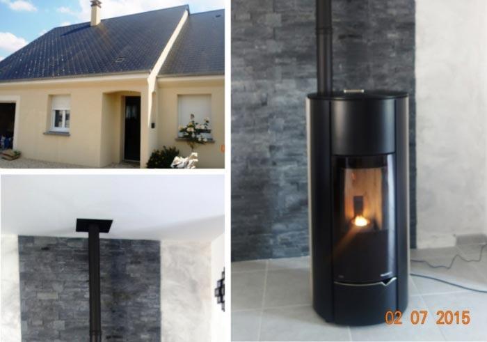 Poêle à granulés de bois (pellet) en appoint chauffage electrique Marray - 37 Indre et Loire-Indre et Loire (37)
