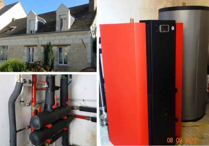 Poêle à granulés de bois (pellets) Hydraulique à Savigné Sur Touraine  - 37 Indre et Loire-Indre et Loire (37)