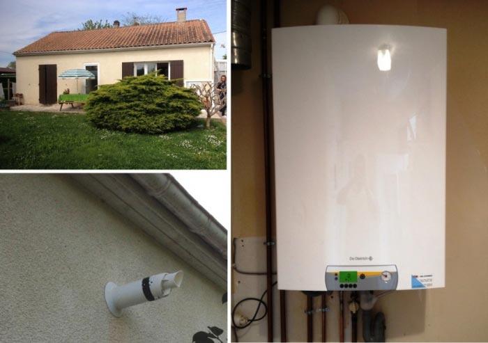 Installation chaudiere gaz condensation DE DIETRICH