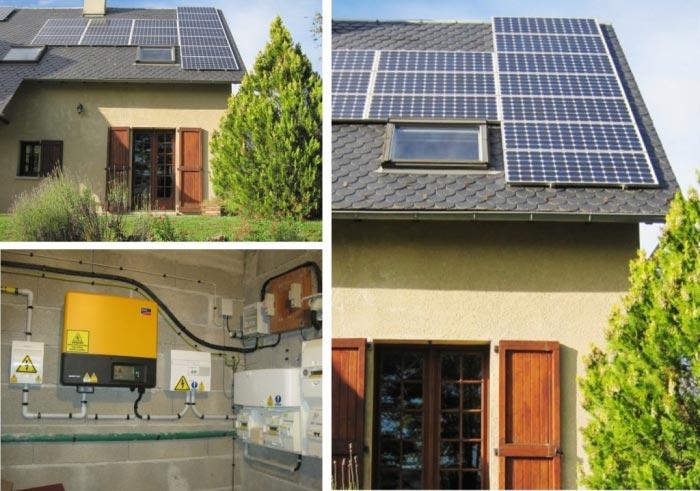 Production d'électricté solaire photovoltaïque à Laissac 12 Aveyron Région Midi Pyrénées