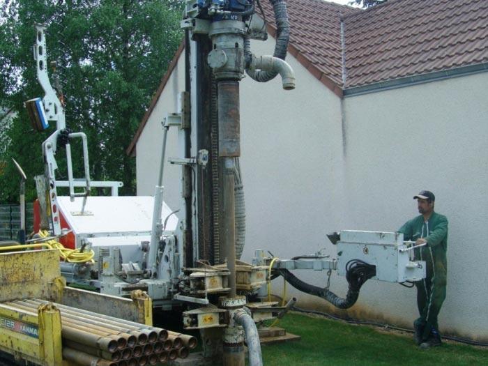 Pose de sondes verticalesgéothermiques pour particuliers