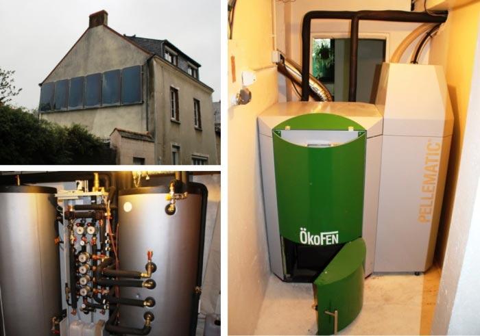 Installation chauffage solaire et chaudière granulés de bois pour chauffage et ecs-Maine et Loire (49)