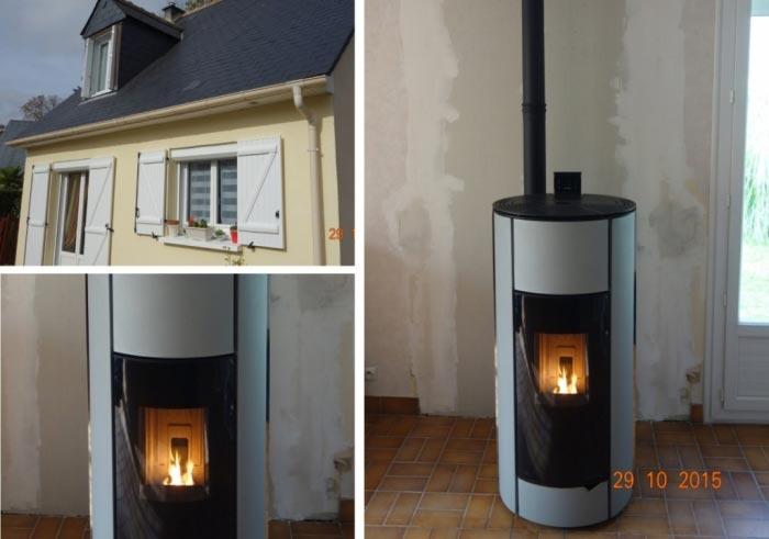 Poêle à granulés de bois (pellets) Palazzetti à Fondettes - 37 Indre et Loire