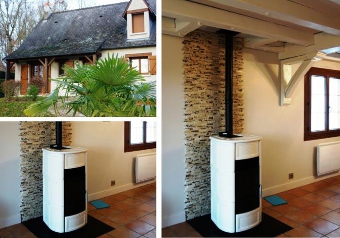 Poêle à granulés de bois (pellets) Palazzetti à Artannes sur Indre 37 Indre et Loire