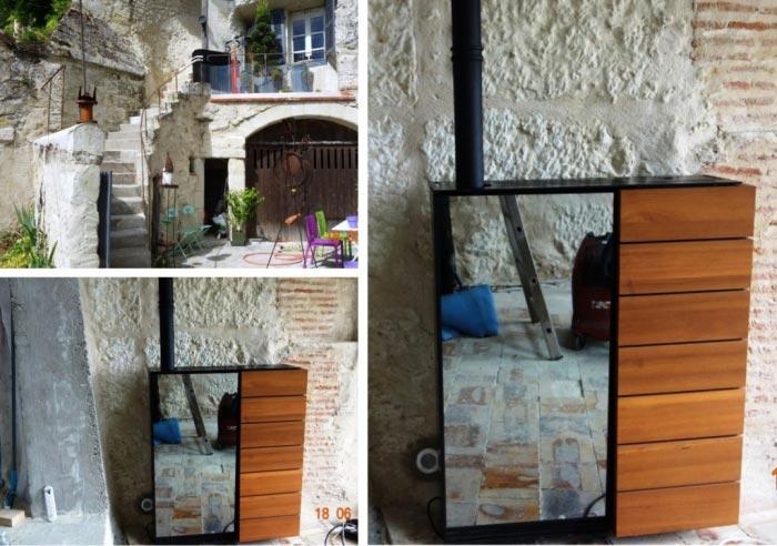 Poêle à granulés de bois (pellets) Palazzetti à Noizay - 37 Indre et Loire