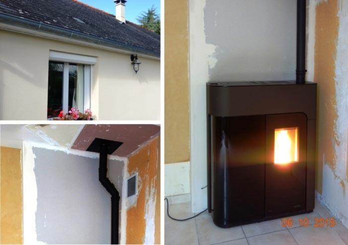 Poêle à granulés de bois (pellets) Palazzetti à Semblançay - 37 Indre et Loire