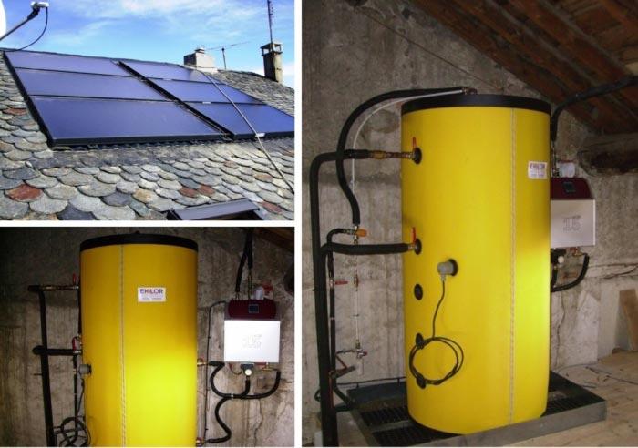 Installation d'un chauffe eau solaire Eklor à Mont-Louis Pyrénées-Oriantales-Pyrénées Orientales (66)