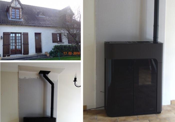 Poêle à granulés de bois (pellets) de marque Palazzetti à Fondettes - 37 Indre et Loire-Indre et Loire (37)