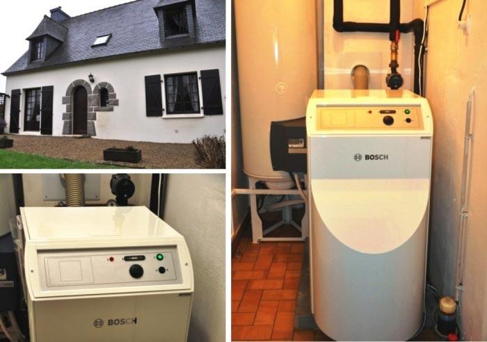 Chaudière à condensation fioul de marque Bosch Thermic à Plouzévédé 29 Finistère