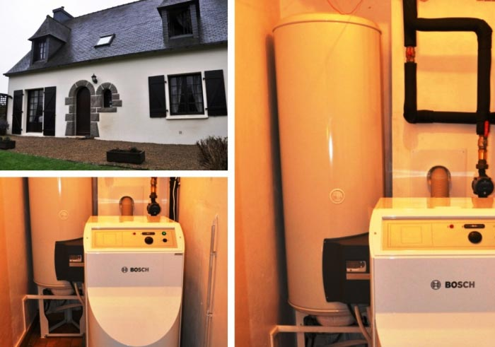 Chauffe-eau thermodynamique ( pac ) de marque Thermor à Plouzévédé 29 Finistère